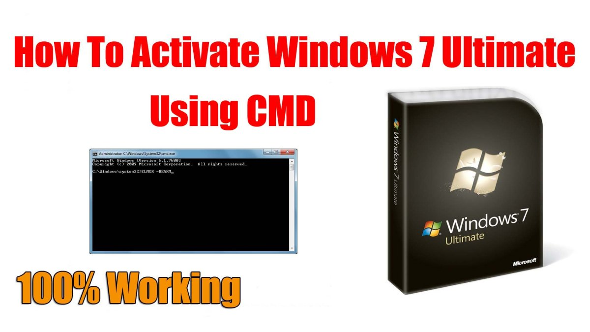 activate windows 7 ultimate cmd
